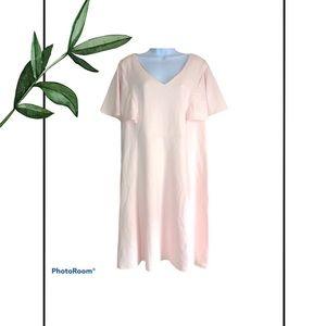 Liz Claiborne Plus Size Blush Pink Midi Dress
